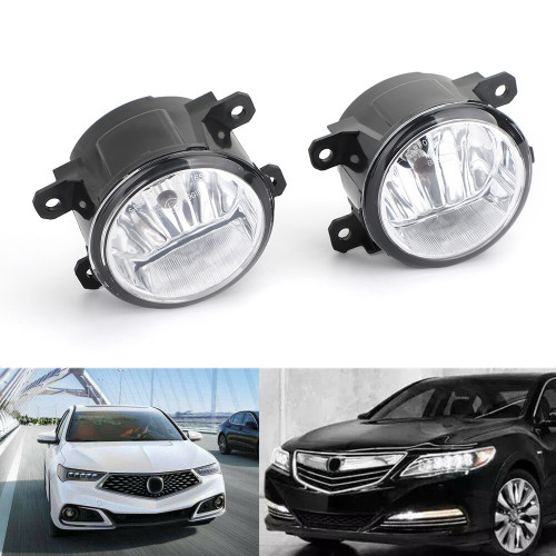Passenger&Driver Fog Light For ACURA ILX 13-15 RDX 10-15 TL 12-14 TSX 11-14 Black