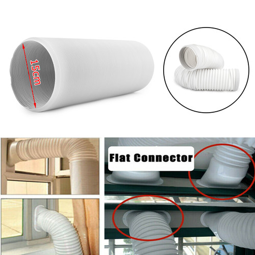 """Universal Portable Air Conditioner Exhaust Hose- 6 inch Width, Extra 79"""" Long"""