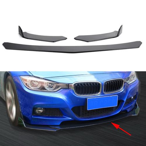 Universal Front Bumper Lip Body Kit Spoiler For Honda Civic BMW Benz Mazda GMC Black