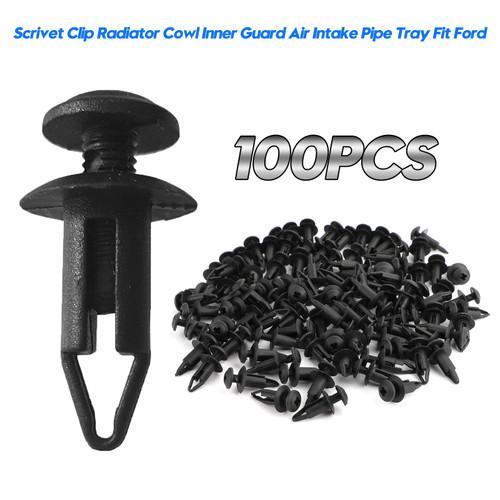 Scrivet Clip Retainer Cover Clip Repair 100PCS 6mm For Ford Falcon Fairmont Fairlane LTD XR6 XR8 EA EB ED XH XH EF EL AU BA BF FG Sedan Wagon Ute Ford Territory SX SY SZ