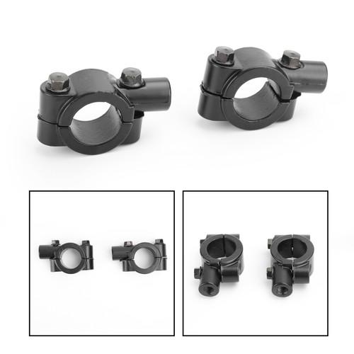 "10mm M10 Motorbike 7/8"" Bar Mirror Mount Holder Clamp Adaptor Universal CW"
