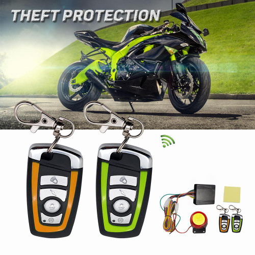 Security Alarm System Anti-theft Remote Control Engine Start Motorcycle Scooter