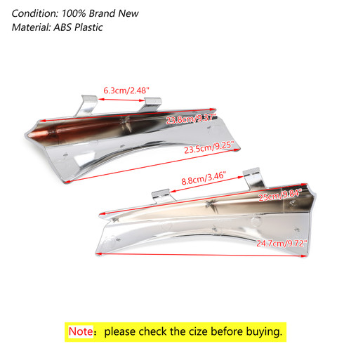 Saddle Heat Shield Air Deflectors For Cross Country,Cross Country Tour & Magnum Models 10-16 Cross Roads Models 10-14 Hard-Ball 12-13 Chrome