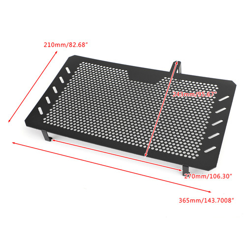 Stainless Steel Radiator Guard Protector Grill Cover For Suzuki DL650 V-Strom 650 2013-2018 Black