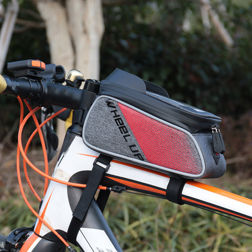 Bicycle Cycling Bike Front Top Tube Frame Bag MTB Waterproof Phone Holder Case Red