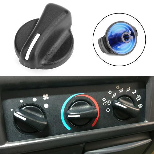 Heater A/C Blower Fan Speed Control Knob For Wrangler 99-06 Ram Van 1500 2500 3500 98-03 Black