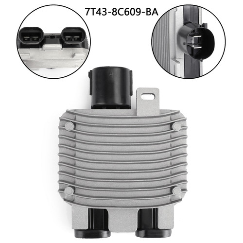 Radiator Cooling Fan Control Module For Volvo S60 V60 S80 V70 XC60 XC70 Mondeo IV 07-14 Galaxy III S MAX 06-15 7T43-8C609-BA Silver