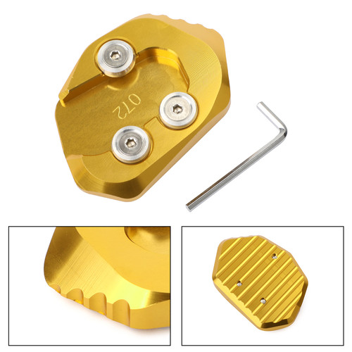 Kickstand Side Stand Extension Pad Plate For HONDA CB1000R 18-19 Gold