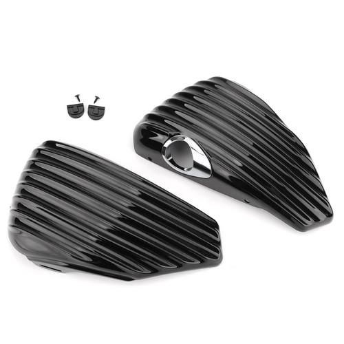 Left&Right Battery Side Cover For Harley Sportster XL883 XL1200 48 72 04-13 Black