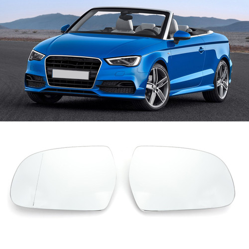 Heated Rearview Mirror Glass Left+Right For Audi A3/S3 09-13 A3 Cabriolet 08-13 A4/S4 08-12 A4 allroad quattro 13-15 A5/S5 10-17 Clear