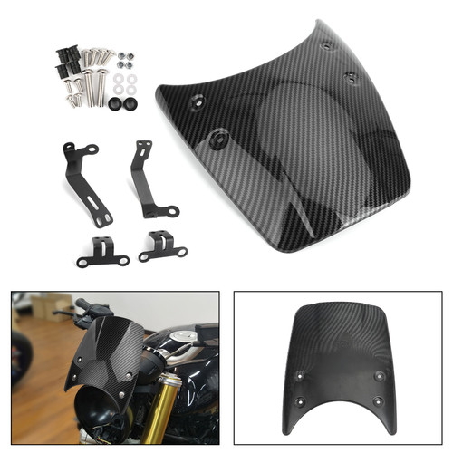Windshield Windscreen Headlight Fairing Suit For BMW R Nine T 14-17 Carbon