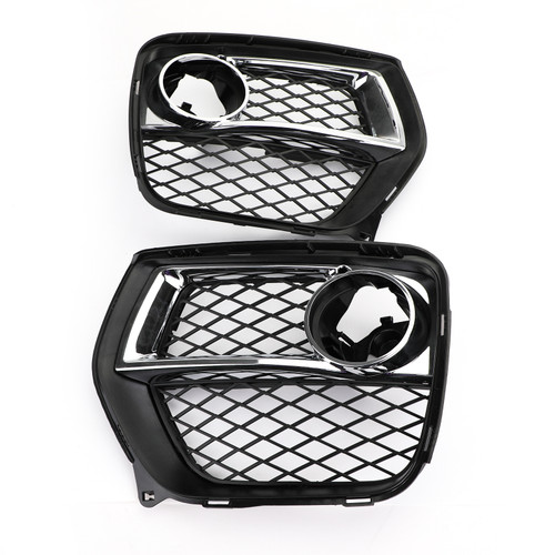 Front Bumper Closed Grid Fog Light Grille Left & Right For BMW X6 E71 12-14 Black