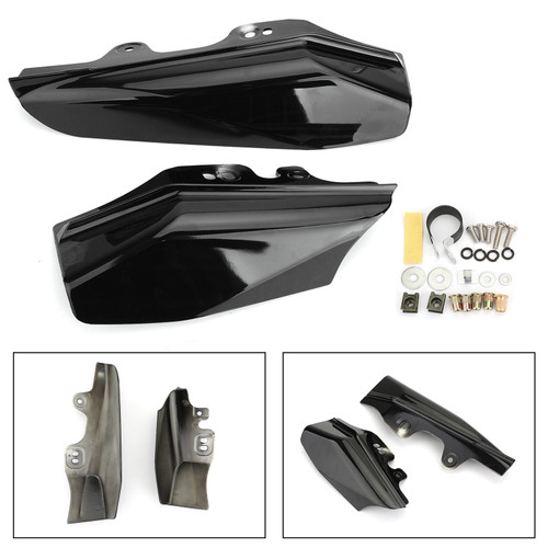 Air Heat Deflector Trim Heat Shield Cover For Harley Touring Models 2001-2008 Black