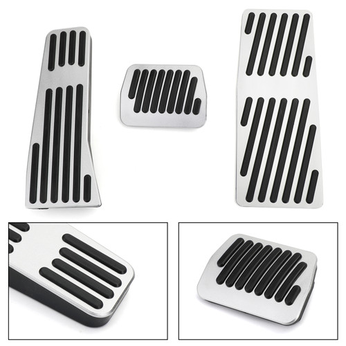 Foot Rest Pedal Pads Fuel Brake Pedal Accessories For Mazda 3 CX-30 2020 Silver