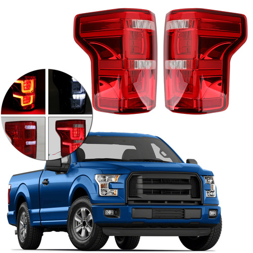 LED Bar Parking Tail Lights Brake Lamps Fit Ford F150 Pickup 15-19 Red