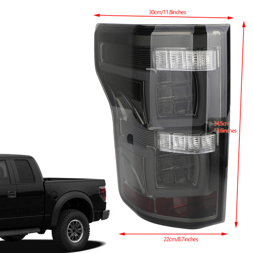 LED Bar Parking Tail Lights Brake Lamps Fit Ford F150 Pickup 15-19 Silver