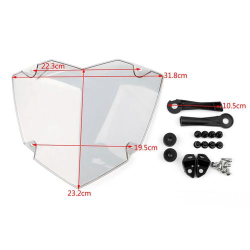 Transparent Headlight Guard for BMW R1200GS Water Cooler 13-17 R1200GS Adventure Water Cooler 14-17 Gray