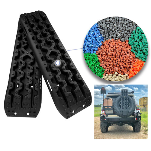 4GEN Recovery Tracks Traction Sand Snow Mud Track Tire Ladder 4WD Black