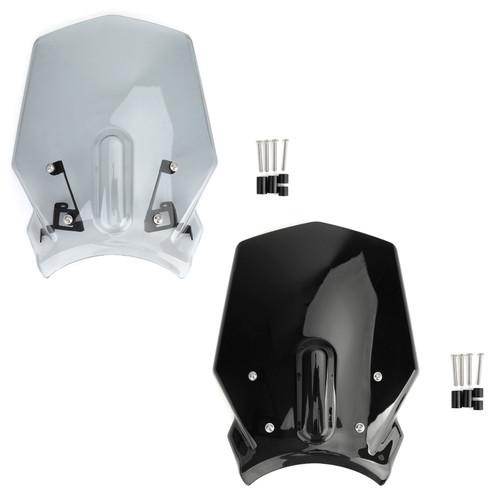 ABS Plastic Windshield Windscreen for Honda CB125R CB300R 2018-2019 Black