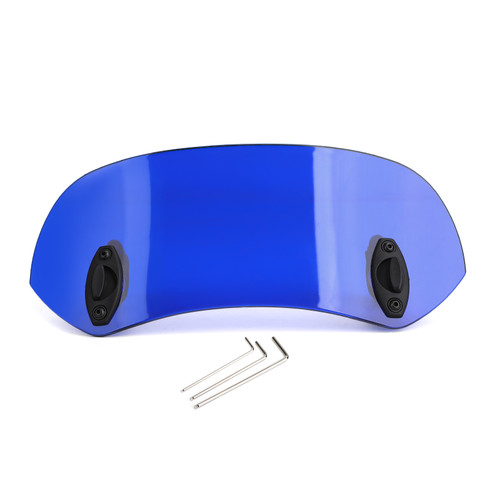 Universal 21CM Adjustable Clip On Windshield Extension Spoiler Wind Deflector Blue