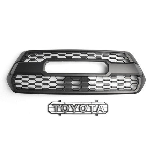 TRD Pro Grille with ACC DRCC Garnish Sensor Cover Fit for Tacoma 2017-2021