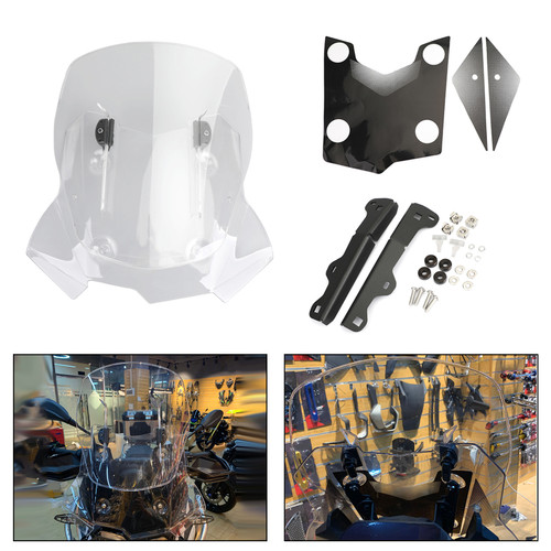 Adjustable ABS Windshield WindScreen for BMW F750GS/F850GS 2018-2019 Clear