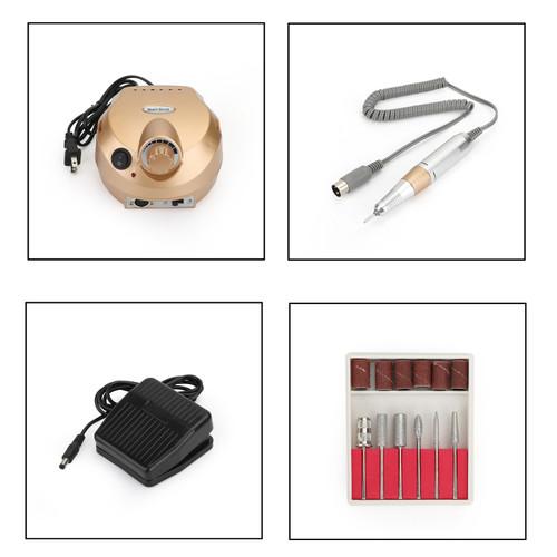 Manicure Tool Pedicure Electric Drill File Nail Art Machine US 30000RPM Pro 1.5A/1.8A