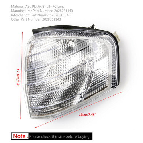 Right Corner Lights Turn Signal Lamps Fits For Mercedes Benz C Class W202 94-00
