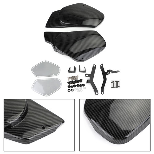 Side Cover Fairing Fit For Yamaha XSR700 16-20 Black Carbon