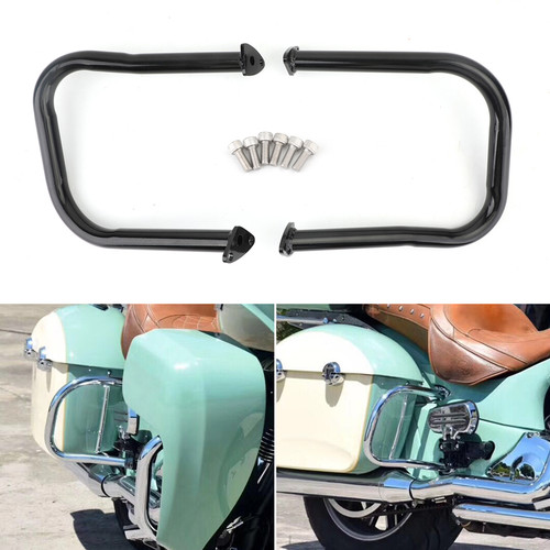 Rear Highway Bars Fit For Indian Chief Classic 14-18 Dark Horse 16-20 Chieftain Classic 18-20 Roadmaster 15-20 Springfield 16-20 Black