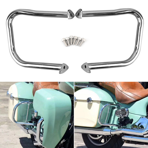 Rear Highway Bars Fit For Indian Chief Classic 14-18 Dark Horse 16-20 Chieftain Classic 18-20 Roadmaster 15-20 Springfield 16-20 Chrome