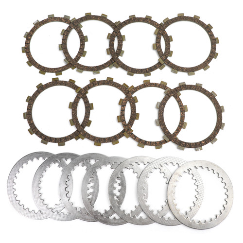 Clutch Plate Kit Fit For Yamaha FZ700 FZ700T/TC 87 FZ750 FZ750 Genesis 85-91 FZX750 86-98