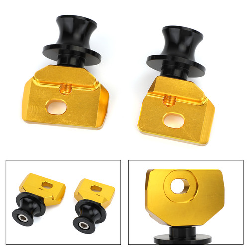 Chain Adjuster Block With Stand Spool Fit For Honda CB650R CBR650R 19-20 Gold