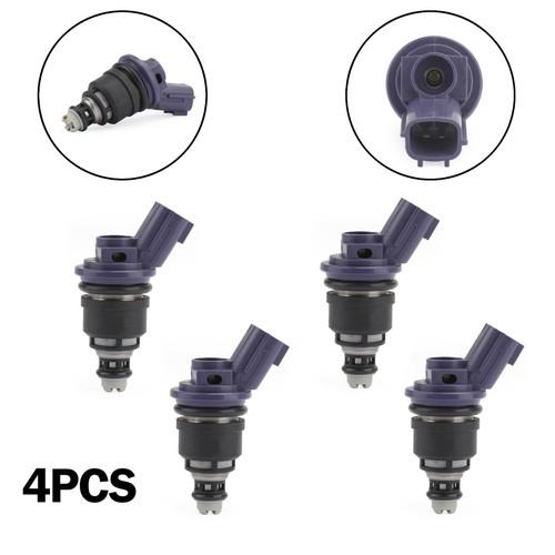 4PCS 375cc Fuel Injector 16600-67U01 Fit For Nissan 240SX/Silvia 91-98 200SX 240SX Silvia S14 S1 Fairlady Z32 Purple