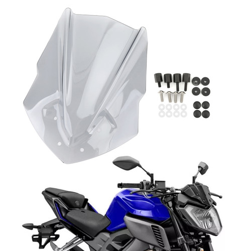 ABS Plastic Windshield Windscreen Fit For Yamaha MT125 15-19 Gray