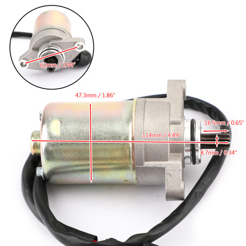 STARTER Motor Engine Starting 9-Spline Fit For Can-Am DS70 10 DS90 X 09 DS70 Mini DS90 X Mini 14-15