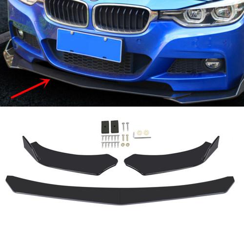 4PCS Universal Front Bumper Lip Body Kit Spoiler Fit For BMW Golf MK5 MK6 MK7 CC Passat Jetta LEXUS  Mercedes Benz Black