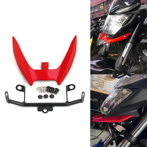 Upper Stay Bracket Front Headlight Trim Fit for Yamaha MT-03 15-19 Red