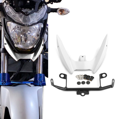 Upper Stay Bracket Front Headlight Trim Fit for Yamaha MT-03 15-19 White