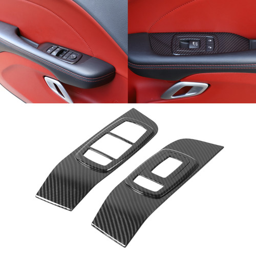 Window Lift Trim Switch Panel Accessories Fits for Challenger 15-19 Carbon Fiber