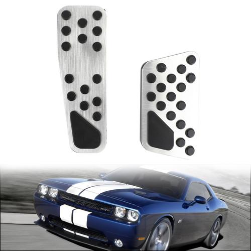 Gas Brake Pedal Cover For Dodge Challenger / Charger / Chrysler 300 09-16 Sliver