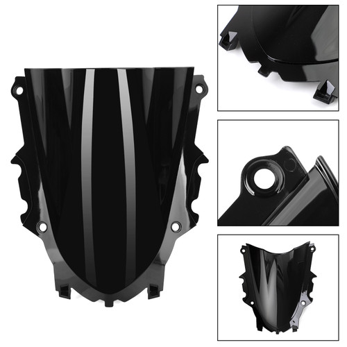 ABS Plastic Windshield Windscreen Fit For Yamaha YZF R3 19-20 Black