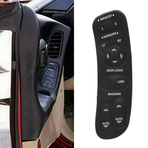 Master Power Window Door Switch 19209381 10092804 Fits for Chevy Corvette C5 97-04 Black