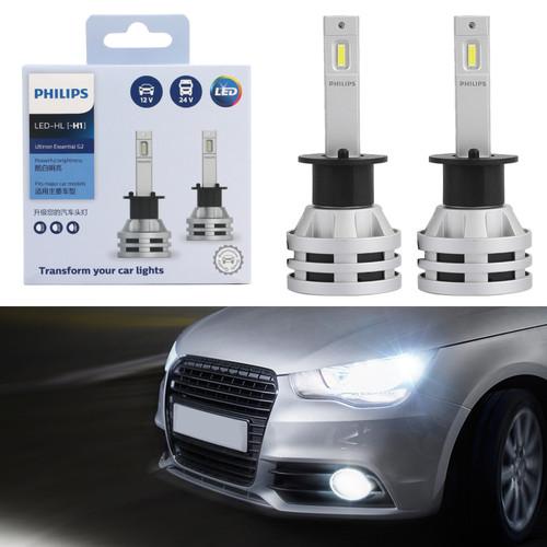 Philips H1 Led Ultinon Essential Car White Headlight Bulbs 6500K 19W 2Pcs
