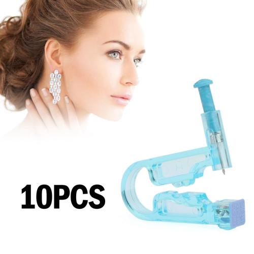 10pcs Disposable Ear Studs Piercing Gun Ear Stud Unit Piercer Tool Kit