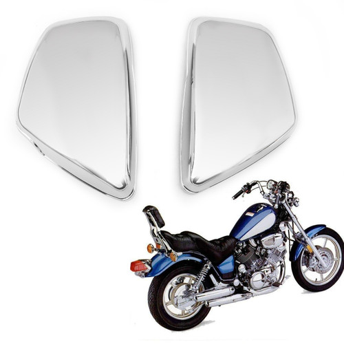 Battery Side Cover Fit for Yamaha 1984-up XV 700 750 1000 1100 Virago Left&Right Chrome