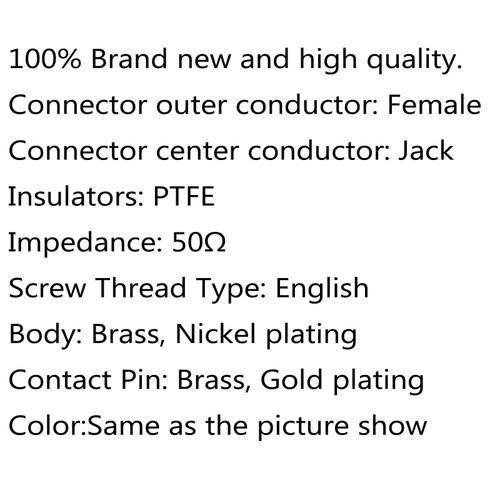 10Pcs Connector UHF Female SO239 Jack Bulkhead Solder Panel Mount Straight