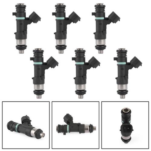 6PCS Fuel Injectors Fit For Nissan Pathfinder Armada 04 Titan 04-12 Xterra 4.0L V6 05-14 Black 0280158007