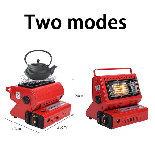 Camping Emergency Butane Heater Double Coherent Heat Source Survival Tools