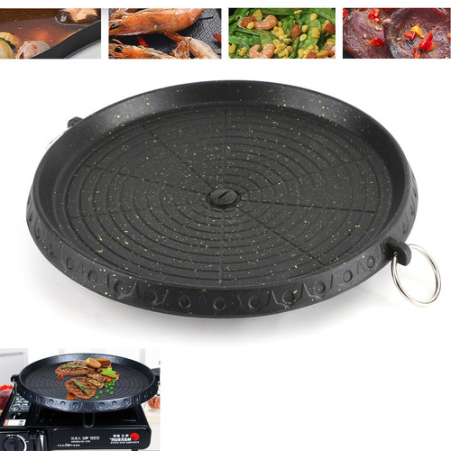 Portable BBQ Grill Stove Korean Coating Marble Gas Non Stick Pan Plate
